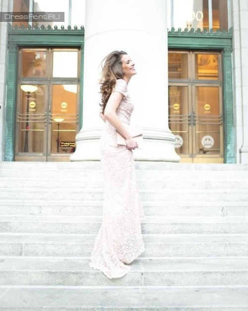 Adrianna Papell ,Sequin Gown Ivory