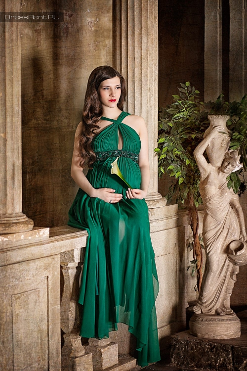 Marc Bouwer,Emerald Silk Dress
