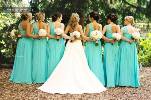 Aidan Mattox ,Tiffany Blue High-low Dress