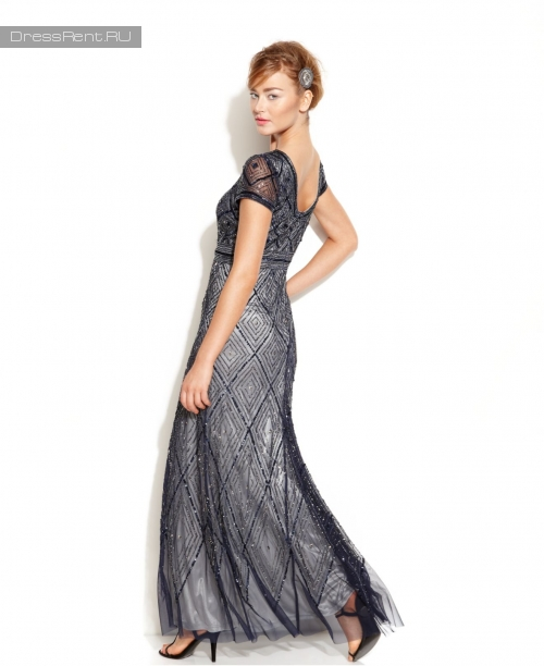 Adrianna Papell ,Diamond Gown Grey
