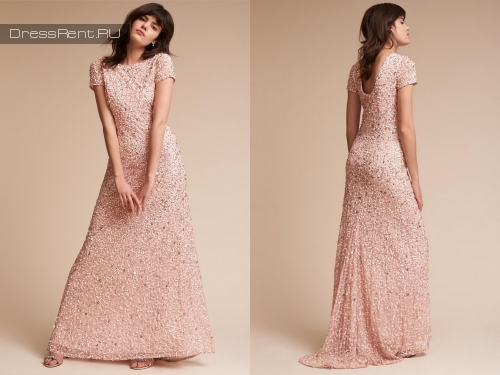 Adrianna Papell ,Sequin Gown Blush P