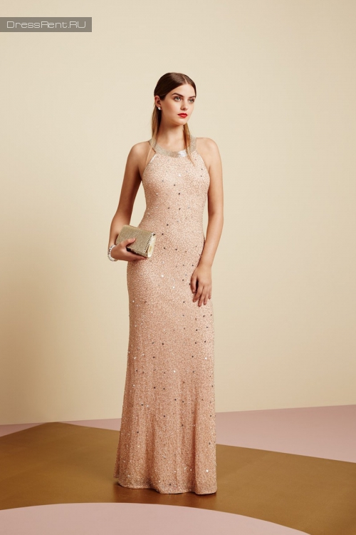 Adrianna Papell ,Powder Sequin Dress